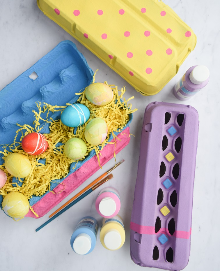 designed painted easter egg cartons