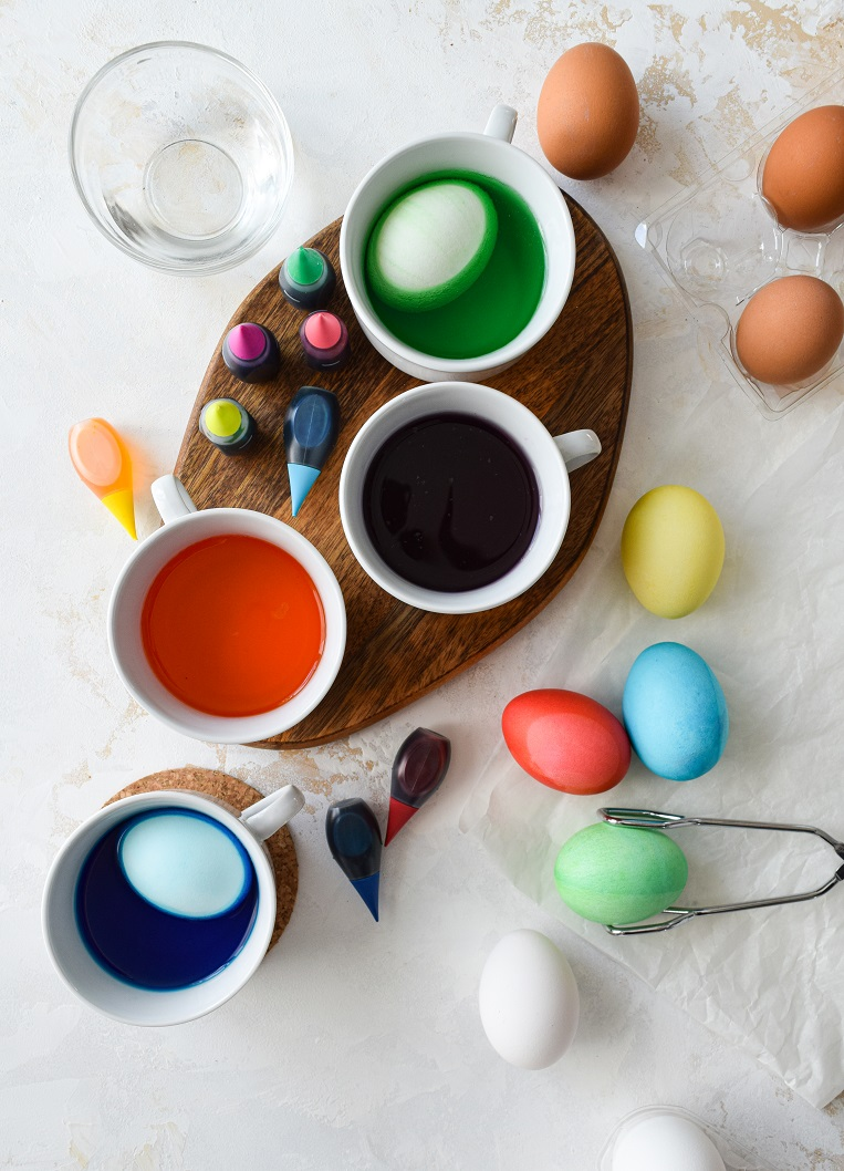 home made easter egg dye DYI
