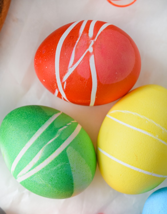 rubber bands easter eggs