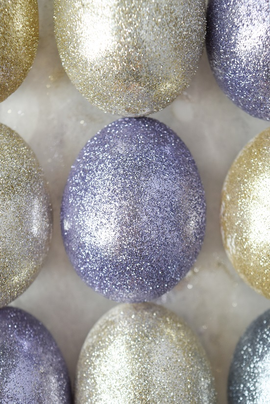 sparkly sparkle easter eggs